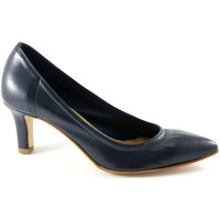 Schuhe Damen Pumps Donna Più IP MAN WOMAN M52251blu dcollet Strecke Frau ungefüttert Blu