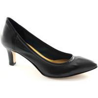 Schuhe Damen Pumps Donna Più PI WOMAN MAN M52251 schwarz dcollet stretch Frau ungefüttert Nero
