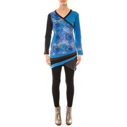 Kleidung Damen Langarmshirts Bamboo's Fashion Robe BW640 bleu Blau