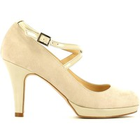 Schuhe Damen Pumps Grace Shoes 7457 Dekollete Frauen Beige Beige