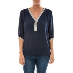 Kleidung Damen Tops / Blusen Barcelona Moda Top Leny Marine Blau