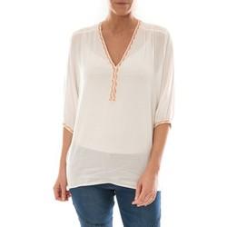 Kleidung Damen Tops / Blusen Barcelona Moda Top Leny Blanc Weiss
