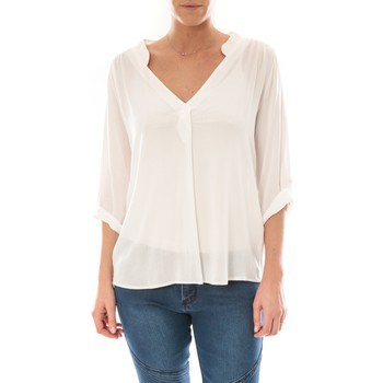 Kleidung Damen Tops / Blusen Barcelona Moda Top Billy Blanc Weiss