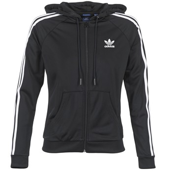 Kleidung Damen Trainingsjacken adidas Originals SLIM FZ HOODIE Schwarz