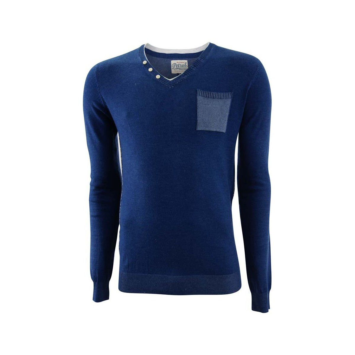 Petrol Industries Round neck double collar knit blau