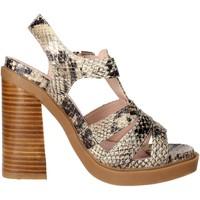 Schuhe Damen Sandalen / Sandaletten Bronx 84436-B Braun Taupe