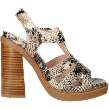 Schuhe Damen Sandalen / Sandaletten Bronx 84436-B Sandal Damen Braun Taupe Braun Taupe
