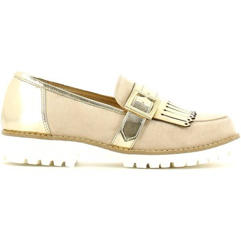 Schuhe Damen Slipper Grace Shoes 5276 Mokassin Frauen Beige Beige