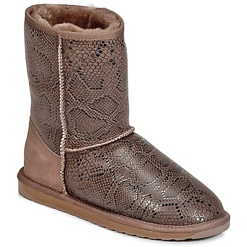 Schuhe Damen Boots EMU STINGER PRINT LO Braun
