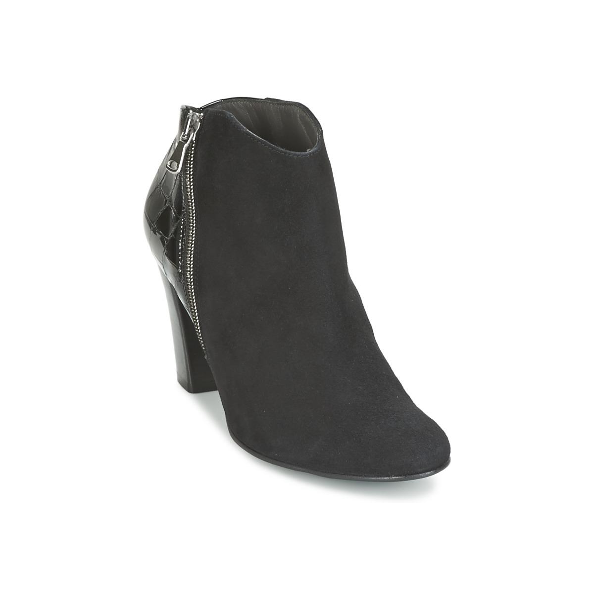 France Mode NANTES Schwarz - Kostenloser Versand bei Spartoode ! - Schuhe Ankle Boots Damen 79,50 €