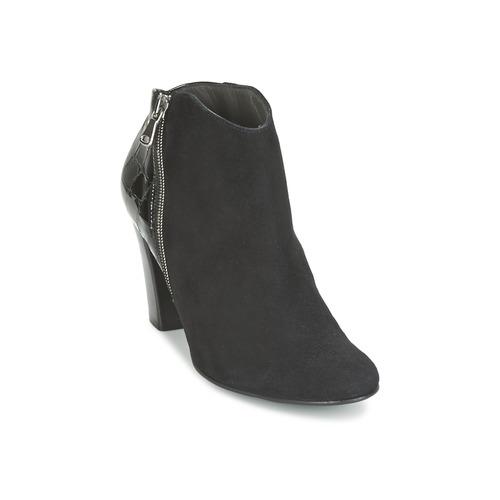 France Mode NANTES Schwarz  Schuhe Ankle Boots Damen 127,20