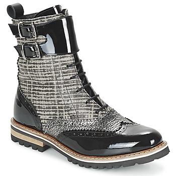 Schuhe Damen Boots Regard RIFADO Grau / Schwarz