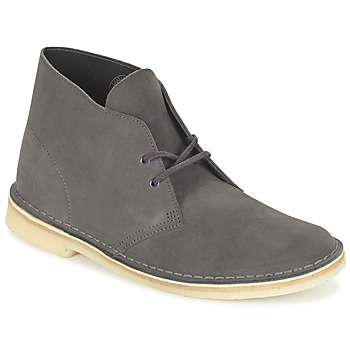 Schuhe Herren Boots Clarks DESERT BOOT Grau
