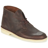 Schuhe Herren Boots Clarks DESERT BOOT Braun