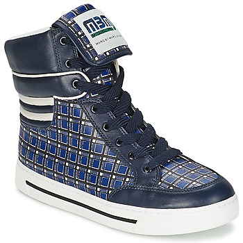 Schuhe Damen Sneaker High Marc by Marc Jacobs CUTE KIDS MINI TOTO PLAID Blau / Multifarben