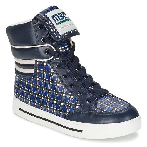 Schuhe Damen Sneaker High Marc by Marc Jacobs CUTE KIDS MINI TOTO PLAID Blau / Multifarben