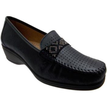 Schuhe Damen Slipper Calzaturificio Loren LOK3955bl blu