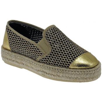 Schuhe Damen Leinen-Pantoletten mit gefloch Trash Deluxe Spadrillas Slip on wedge