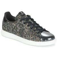 Schuhe Damen Sneaker Low Victoria DEPORTIVO BASKET GLITTER Schwarz