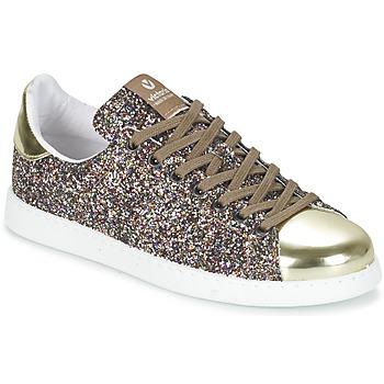 Schuhe Damen Sneaker Low Victoria DEPORTIVO BASKET GLITTER Multifarben