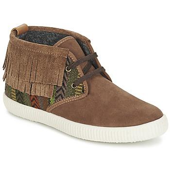 Schuhe Damen Sneaker High Victoria SAFARI FLECOS ANTELINA ETNIC Braun