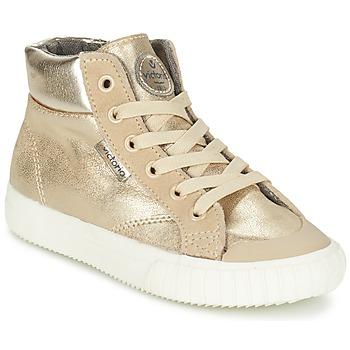 Schuhe Mädchen Sneaker High Victoria BOTA METALIZADA PU Gold