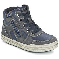 Schuhe Jungen Sneaker High Geox ELVIS Blau / Grau