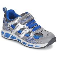 Schuhe Jungen Sneaker Low Geox SHUTTLE BOY Grau / Blau