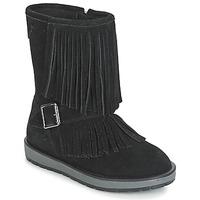 Schuhe Mädchen Klassische Stiefel Geox NOHA Schwarz