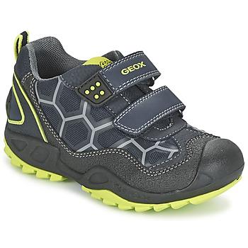 Schuhe Jungen Sneaker Low Geox NEW SAVAGE BOY Blau / Gelb