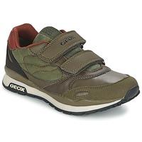 Schuhe Jungen Sneaker Low Geox PAVEL Grün / Orange