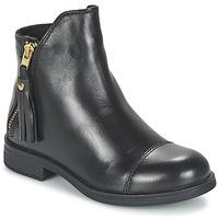 Schuhe Mädchen Boots Geox AGATE Schwarz