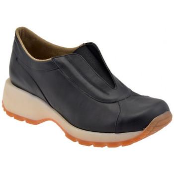 Schuhe Damen Sneaker Low Bocci 1926 Gehen Slip On Sport unteren turnschuhe Schwarz