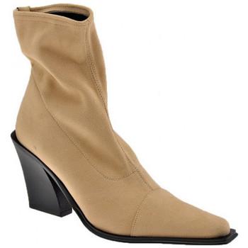 Schuhe Damen Low Boots Bocci 1926 Stub T.100 halbstiefel Beige