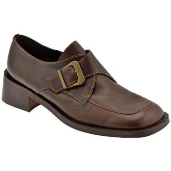 Schuhe Damen Slipper Bocci 1926 Stadt Buckle mokassin halbschuhe Braun