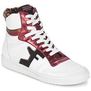 Schuhe Damen Sneaker High Serafini SAN DIEGO Weiss / Rot
