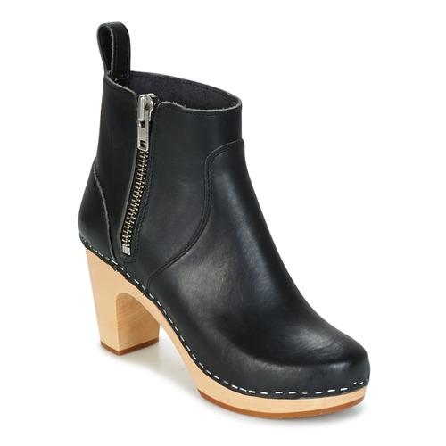 Swedish hasbeens ZIP IT SUPER HIGH Schwarz  Schuhe Low Boots Damen 239,20