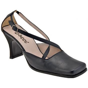 Schuhe Damen Pumps Bocci 1926 Punta Quadra T.60 Court Schuh ist plateauschuhe Blau