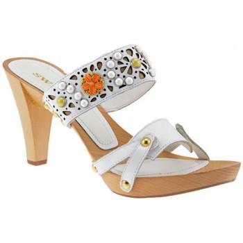 Schuhe Damen Sandalen / Sandaletten Swish Sockel80Absatzsandale Weiss