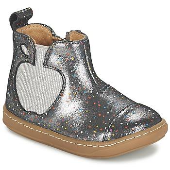 Schuhe Mädchen Boots Shoo Pom BOUBA APPLE Silbern