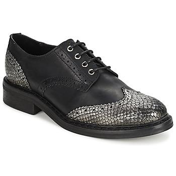 Trendy Mokassins Damen Schuhe Moderne Halbschuhe Slipper 1982 Schwarz 36