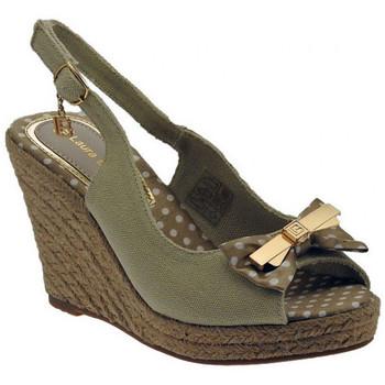 Laura Biagiotti Sandalen Sandalo zeppa cinturino cordura fiocco sandale