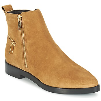 Schuhe Damen Boots Kenzo TOTEM FLAT BOOTS Camel