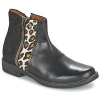 Schuhe Mädchen Boots Shwik TIJUANA WILD Schwarz / Leopard