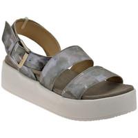 Schuhe Damen Sandalen / Sandaletten Janet&Janet Platform Slave sandale Silbern