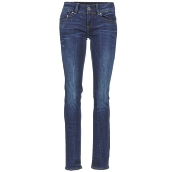 Kleidung Damen Straight Leg Jeans G-Star Raw MIDGE SADDLE MID STRAIGHT Paillettenschwarz