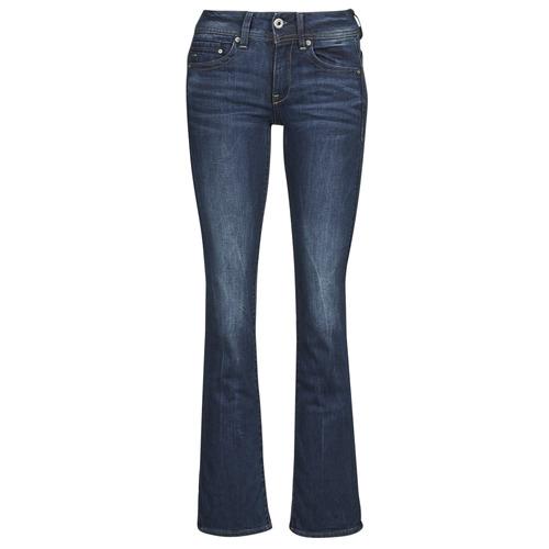 Kleidung Damen Bootcut Jeans G-Star Raw MIDGE SADDLE MID BOOTLEG Paillettenschwarz