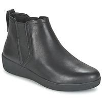 Schuhe Damen Boots FitFlop SUPERCHELSEA BOOT Schwarz