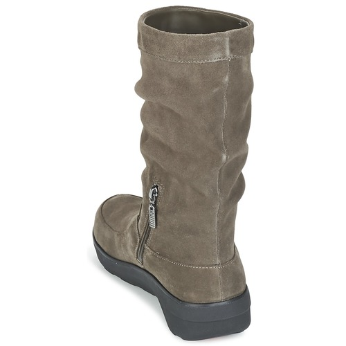 FitFlop  LOAF SLOUCHY KNEE BOOT SUEDE Maulwurf  FitFlop Schuhe Boots Damen 117,60 a0cd02