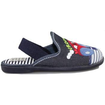 Schuhe Kinder Hausschuhe Vulladi TEJANO BLAU